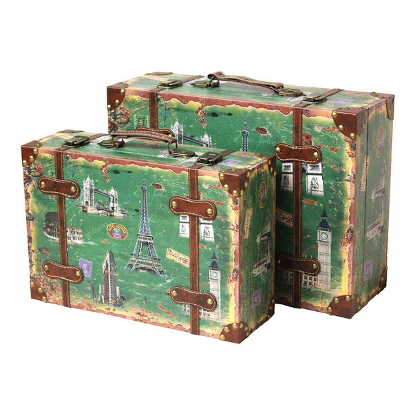 Vintage Style European Luggage Suitcase (Set of 2) - Free Shipping ...