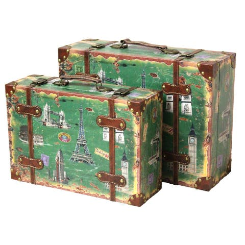Vintage Style European Luggage Suitcase (Set of 2)