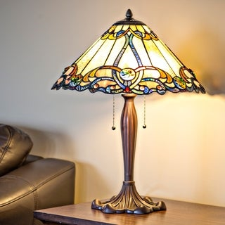 """25.5""""H Stained Glass Brandi's Amber Table Lamp"""