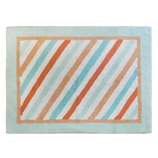 My Baby Sam Penny Lane Orange Stripe Rug
