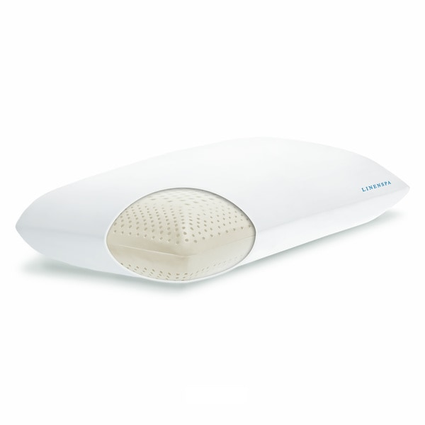 Linenspa Dual Zone Molded Memory Foam Pillow with Washable Cover