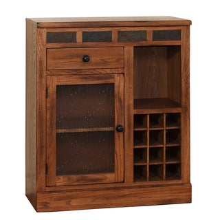 Sedona Rustic Oak Mini Bar