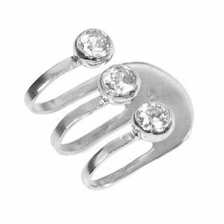 Queenberry Sterling Silver Cubic Zirconia Earring Cuff https://ak1.ostkcdn.com/images/products/10241443/P17361046.jpg?impolicy=medium