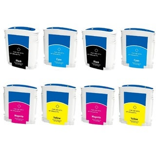 LED HP 88 88XL C9396AN C9391AN C9392AN C9393AN Black Cyan Magenta Yellow Ink Cartridge (Pack of 8)
