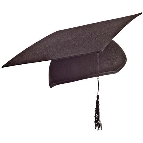 Adult Black Graduation Mortarboard Cap with Tassel