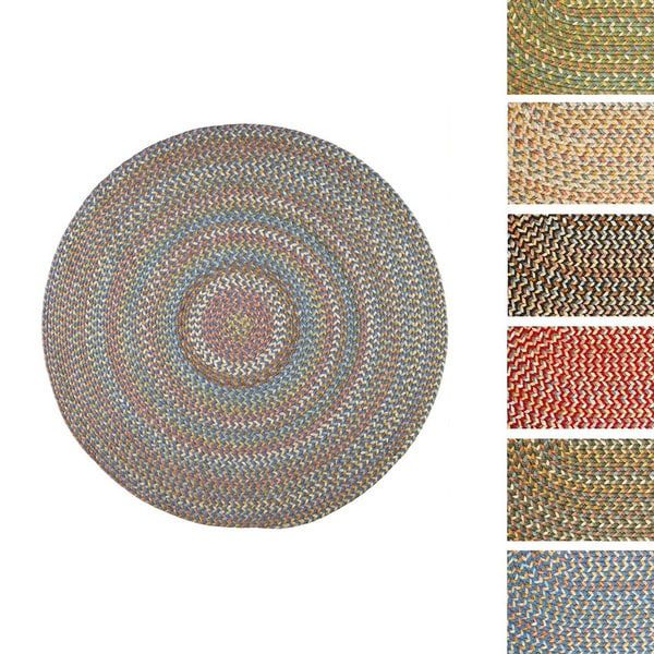 Cozy Cove Indoor/Outdoor Round Braided Rug by Rhody Rug - 8'