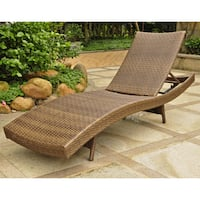 International caravan valencia resin wicker steel frame for Chaise longue multi positions