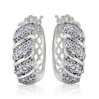 DB Designs 1/2ct TDW Diamond Wave Hoop Earring