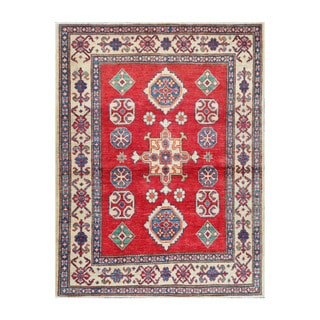 Herat Oriental Afghan Hand-knotted Tribal Vegetable Dye Kazak Wool Rug (3'6 x 4'9)