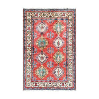 Herat Oriental Afghan Hand-knotted Tribal Vegetable Dye Kazak Wool Rug (3'9 x 6')