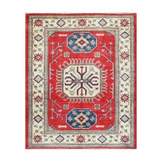 Handmade Vegetable Dye Kazak Wool Rug (Afghanistan) - 5'1 x 6'2