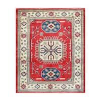 Herat Oriental Afghan Hand-knotted Tribal Vegetable Dye Kazak Wool Rug (5'1 x 6'2) - 5'1 x 6'2