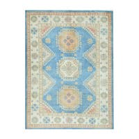 Herat Oriental Afghan Hand-knotted Tribal Vegetable Dye Kazak Wool Rug (5' x 6'11) - 5' x 6'11