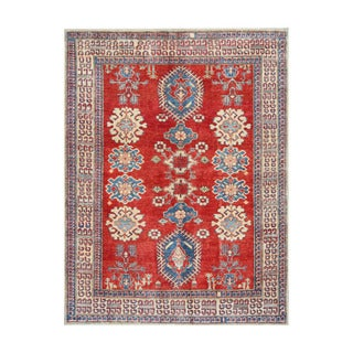 Herat Oriental Afghan Hand-knotted Tribal Vegetable Dye Kazak Wool Rug (5'3 x 7')