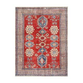 Herat Oriental Afghan Hand-knotted Tribal Vegetable Dye Kazak Wool Rug (5'3 x 7') - 5'3 x 7'