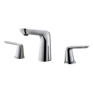 KRAUS Seda 8-inch Widespread Two-Handle Bathroom Faucet in Brushed Nickel-White