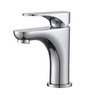 KRAUS Aquila Single Hole Single-Handle Basin Bathroom Faucet in Chrome