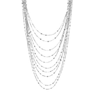 Sterling Essentials 18-inch Silver Twist Link Multi-Layered Necklace