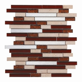 Mesh-Mounted Mosaic Wall Tile (Pack of 6)