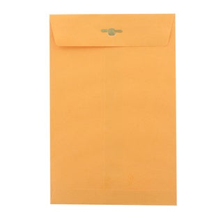 Bazic 6-inch x 9-inch Two-prong Clasp Top Loading Gummed Flap Envelope (Pack of 100)