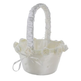 Wilton Small Ivory Flower Basket