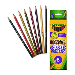Crayola Multicultural Assorted Colored Woodcase Pencils