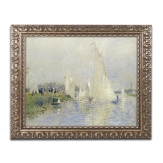 Pierre Renoir 'Regatta at Argenteuil 1874' Antique Wooden Gold Framed Art