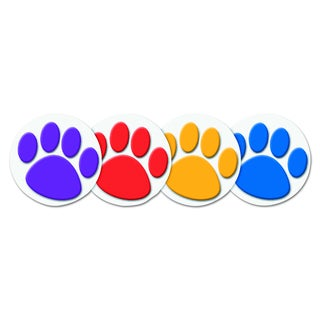 Teacher Created Resources Wear 'Em Paw Prints Badges (Pack of 32)