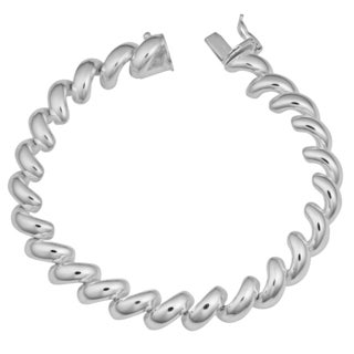 Argento Italia Sterling Silver High Polish San Marco Bracelet (7.5 inches)