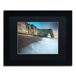 Mathieu Rivrin 'Gate to the Ocean' Black Wood Framed Canvas Wall