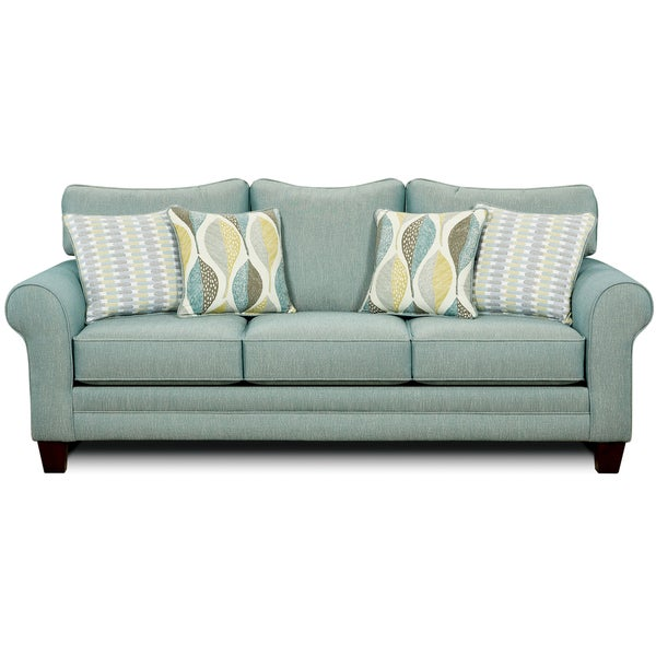 Furniture of America Springfall Contemporary Soft Teal