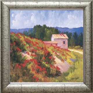 Brigitte Curt 'Late Spring Poppies' 28 x 24 Framed Art Print
