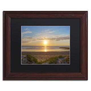 Chris Moyer 'Pierpont Sunset' Wood Framed Canvas Art