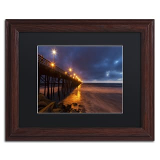 Chris Moyer 'Night Side' Wood Framed Canvas Art