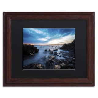 Chris Moyer 'Bacara Twilight' Wood Framed Canvas Art