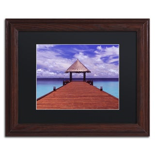 David Evans 'Arrivals-Jumeirah Vittaveli' Wood Framed Canvas Art
