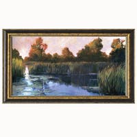 Philip Craig-The Lily Pond 40 x 22 Framed Art Print
