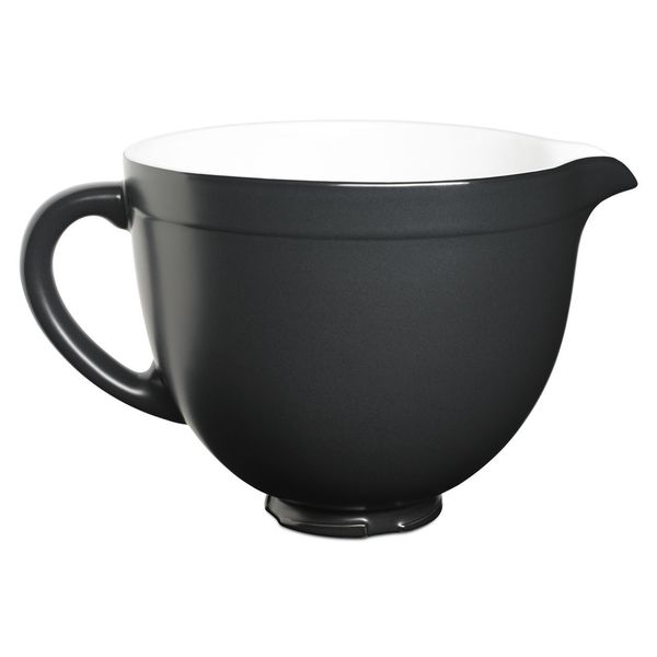KitchenAid KSMCB5BM Black 5-quart Ceramic Bowl