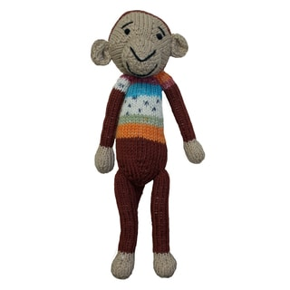 Hand-knitted 9-inch Monkey Toy (ZImbabwe)