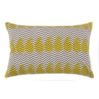 Yellow Paisley Zig Zag Pillow