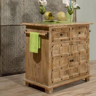 Hillsdale Furniture's Millstone Farmhouse Kitchen Island with Nailhead