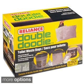 Reliance Double Doodie Toilet Waste Bag with Bio-Gel