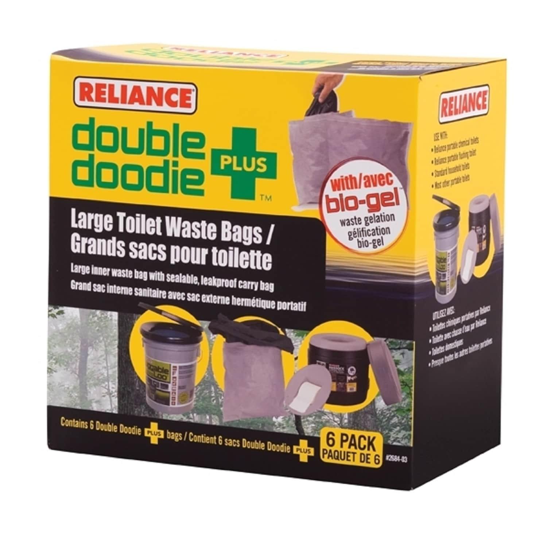 Reliance Double Doodie Toilet Waste Bag with Bio-Gel (Lar...