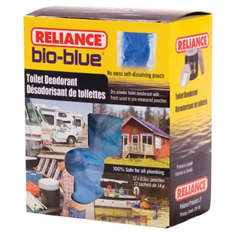 Reliance Bio-Blue Toilet Deodorant Control Odor 12 Pouches