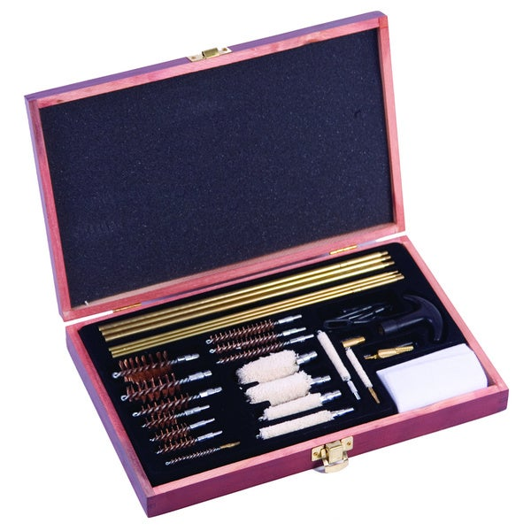 Winchester 42-piece Deluxe Universal Cleaning Kit Wood Case