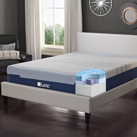 LANE 12-inch Twin XL-size Flex Gel Foam Mattress with bonus pillow