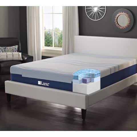 LANE 12-inch Full-size Flex Gel Foam Mattress with bonus pillow