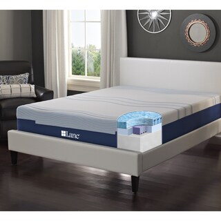 LANE 12-inch Full-size Flex Gel Foam Mattress with bonus pillow