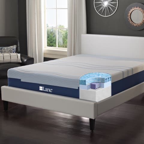 LANE 12-inch King-size Flex Gel Foam Mattress with Bonus Pillow