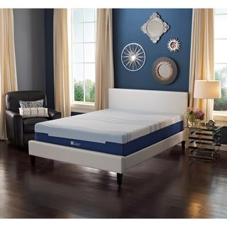 LANE 8-inch Twin XL-size Flex Gel Foam Mattress with bonus pillow